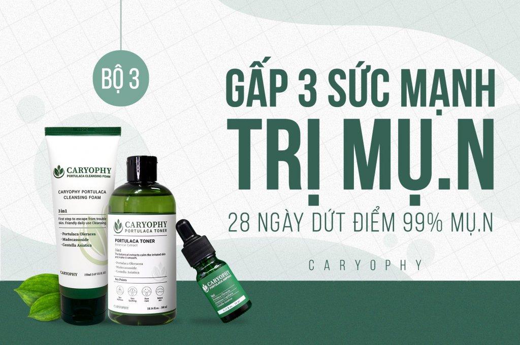 Bộ 3 trị mụn caryophy